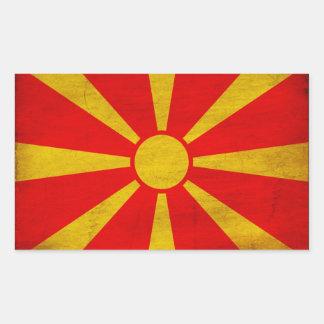 Bandera de Macedonia Rectangular Pegatina