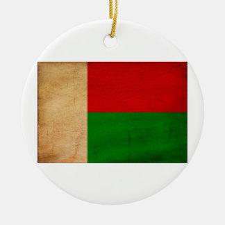 Bandera de Madagascar Adorno Redondo De Cerámica