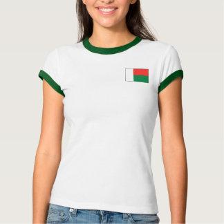 Bandera de Madagascar + Camiseta del mapa