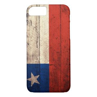 Bandera de madera vieja de Chile Funda iPhone 7