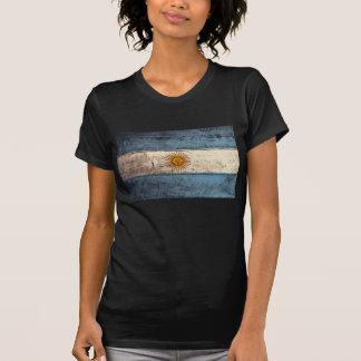 Bandera de madera vieja de la Argentina; Camiseta