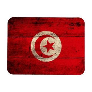 Bandera de madera vieja de Túnez Imán