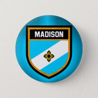 Bandera de Madison Chapa Redonda De 5 Cm