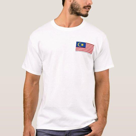Bandera de Malasia y camiseta del mapa