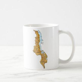 Bandera de Malawi y taza del mapa