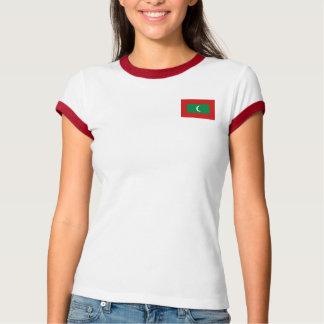 Bandera de Maldivas + Camiseta del mapa