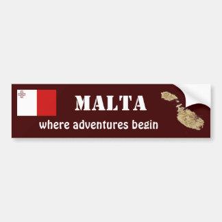 Bandera de Malta + Pegatina para el parachoques de Pegatina Para Coche