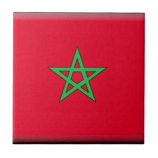Bandera de Marruecos Teja Ceramica