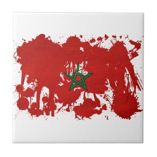 Bandera de Marruecos Azulejos Cerámicos