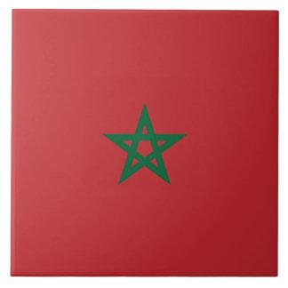 Bandera de Marruecos Azulejo Cuadrado Grande