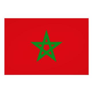 Bandera de Marruecos Impresion Fotografica