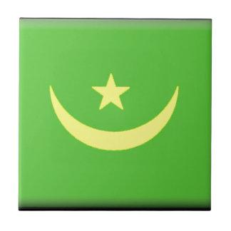 Bandera de Mauritania Azulejos