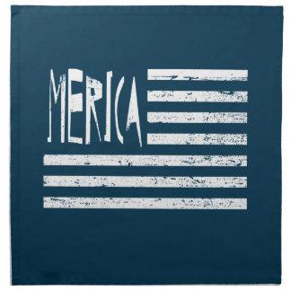 Bandera de Merica Servilleta Imprimida