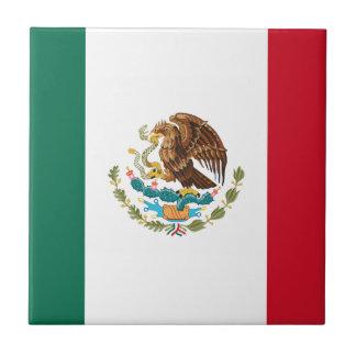 Bandera de México - bandera mexicana - Bandera de Azulejo Cuadrado Pequeño