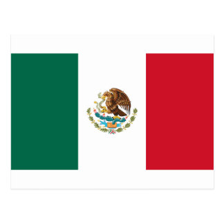 Bandera de México - bandera mexicana - Bandera de Postal