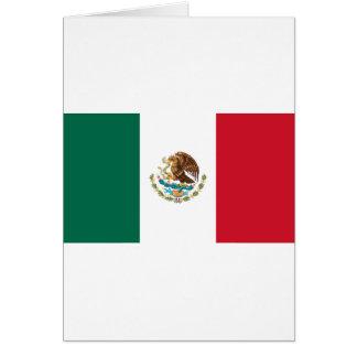Bandera de México - bandera mexicana - Bandera de Tarjeta De Felicitación