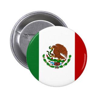 Bandera de México Chapa Redonda De 5 Cm