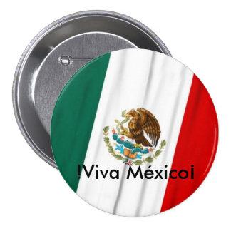 Bandera de México Chapa Redonda De 7 Cm