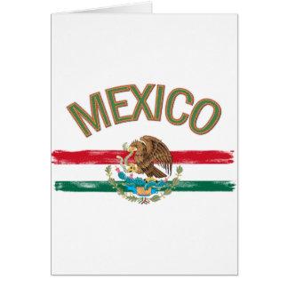 Bandera de México del mexicano Tarjeta De Felicitación
