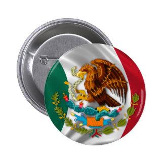 Bandera de México, escudo de armas Chapa Redonda De 5 Cm