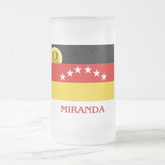 Bandera de Miranda con nombre Taza De Café
