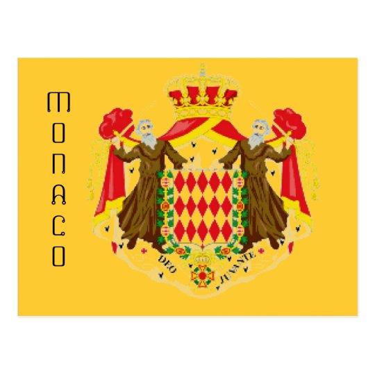 Bandera de Mónaco Postal