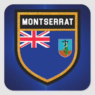 Bandera de Montserrat Pegatina Cuadrada