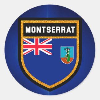 Bandera de Montserrat Pegatina Redonda
