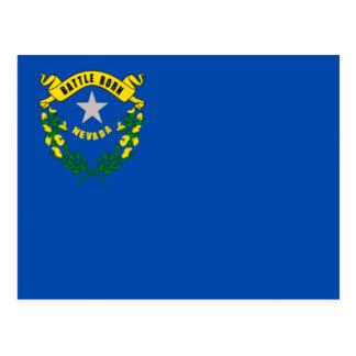Bandera de Nevada Tarjeta Postal