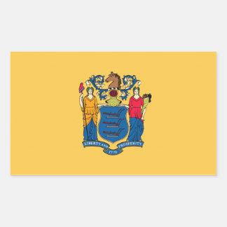 Bandera de New Jersey Etiqueta