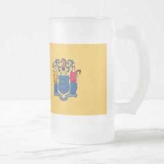 Bandera de New Jersey Taza Cristal Mate