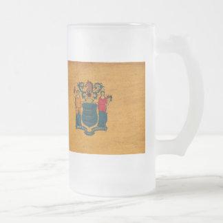 Bandera de New Jersey Taza De Cristal