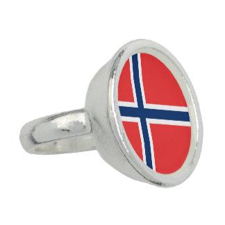 Bandera de Noruega Anillos Con Foto