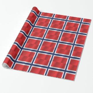 Bandera de Noruega Papel De Regalo