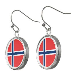 Bandera de Noruega Pendientes