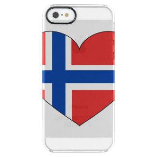 Bandera de Noruega simple Funda Transparente Para iPhone SE/5/5s