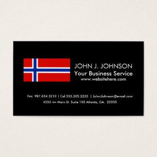 Bandera de Noruega Tarjeta De Visita