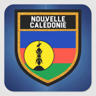 Bandera de Nueva Caledonia Pegatina Cuadrada