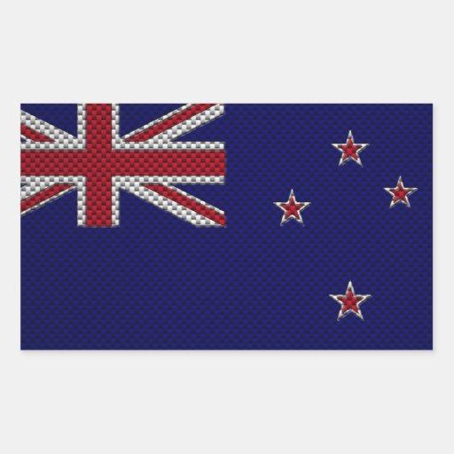 Bandera de Nueva Zelanda con efecto de la fibra de Rectangular Altavoces