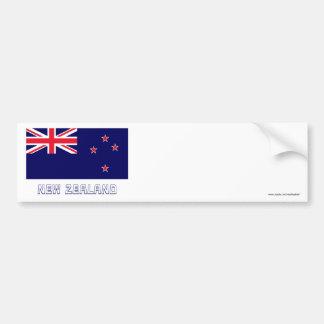 Bandera de Nueva Zelanda con nombre Pegatina Para Coche