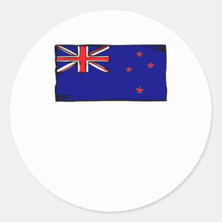 Bandera de Nueva Zelanda Etiqueta