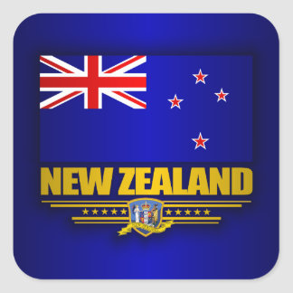Bandera de Nueva Zelanda Pegatina Cuadradas Personalizadas