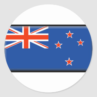 Bandera de Nueva Zelanda Etiquetas Redondas
