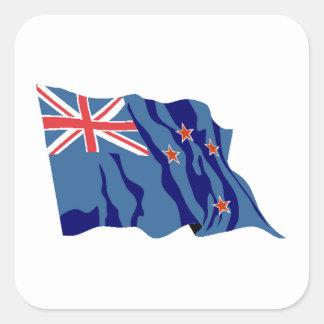 Bandera de Nueva Zelanda Calcomania Cuadradas