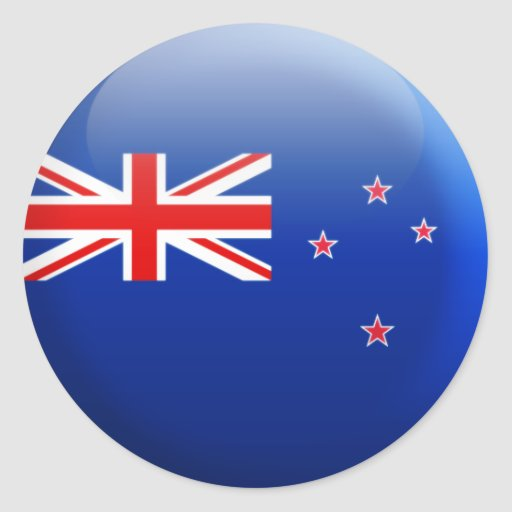 Bandera de Nueva Zelanda Pegatinas Redondas
