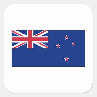 Bandera de Nueva Zelanda Calcomania Cuadrada Personalizada
