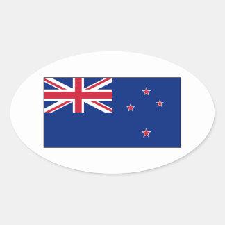 Bandera de Nueva Zelanda Pegatinas De Oval