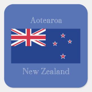 Bandera de Nueva Zelanda Pegatina Cuadradas Personalizada