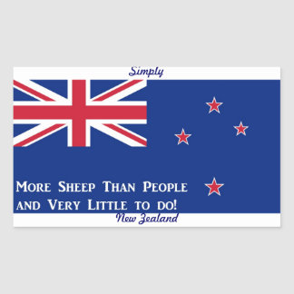 Bandera de Nueva Zelanda Rectangular Pegatina