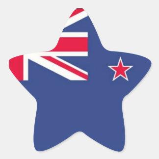 ¡Bandera de Nueva Zelanda - PEGATINA asteroide!